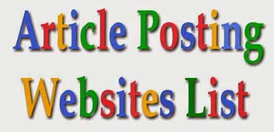 Article submission website list