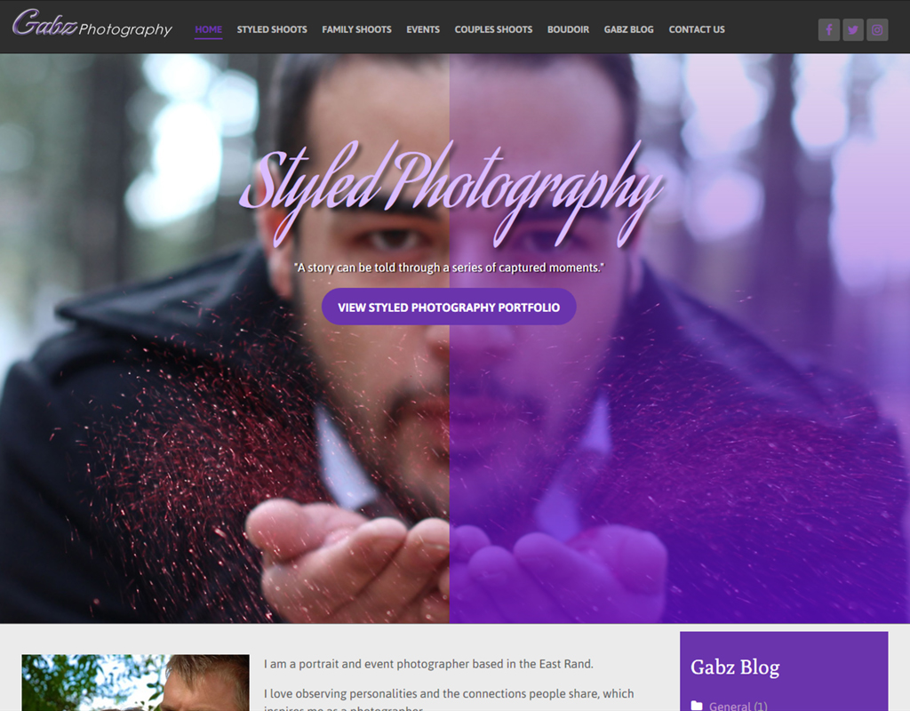 Gabz Photography Home Page