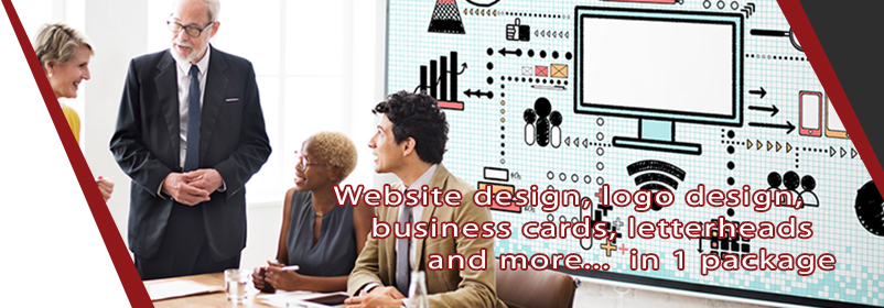Website design, logo design, business cards, letterheads and more... in 1 package