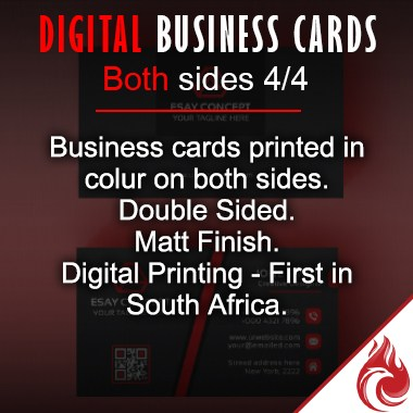 Digital business cards both sides