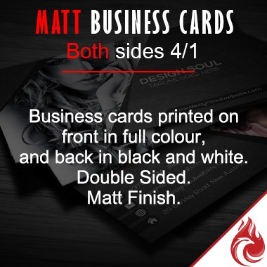 Matt Full Colour Business Cards 4/1