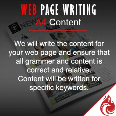 Web Page A4 Content Writing